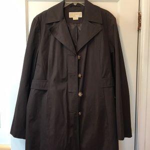 Micheal Kors brown raincoat